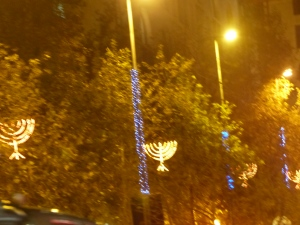 Chanukah Menorahs in Jerusalem