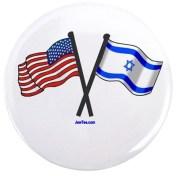 America Israel Friendship button