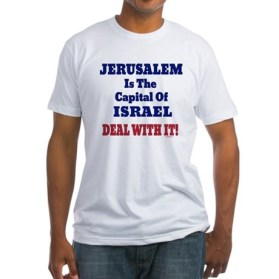 Jerusalem Israel's Capital American Apparel Fitted T Shirt