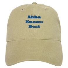 Abba Knows Best funny Father's Day Jewish Baseball Cap