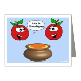 Funny Jewish New Year card Apples and Honey