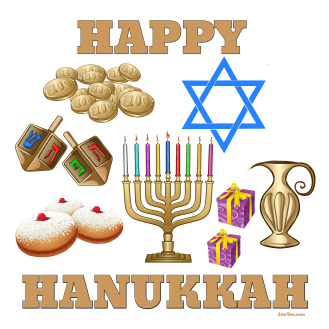 Happy Hanukkah Symbols