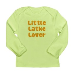 Little Latke Lover long sdleeve Hanukkah t shirt